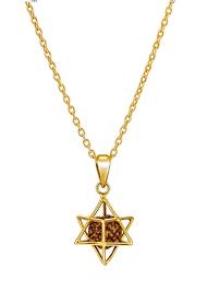 big nakshatra star necklace gold