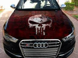 Vinyl Car Hood Wrap Full Color Graphics Decal Punisher Sticker 3 Ebay