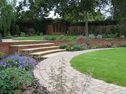 sloping garden design ideas uk