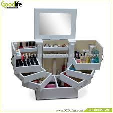 makeup storage drawers wooden crate