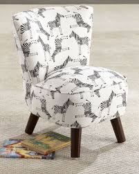 Kids Oriana Zebra Print Chair Printed Chair Kid Room Decor Zebra Chair