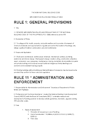 Doc The New National Building Code Implementing Rules And Regulations Cedric Revilla Academia Edu