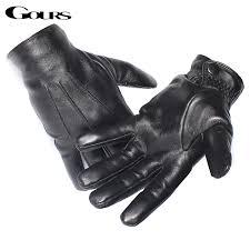 genuine leather gloves real sheepskin
