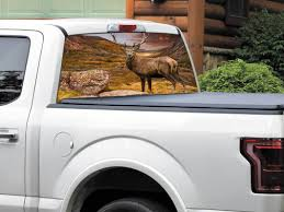 Product Deer And Mountains Beautiful Nature Rear Window Decal Sticker Pick Up Truck Suv Car Any Size