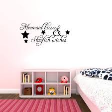 Amazon Com Mermaid Kisses Starfish Wishes Vinyl Wall Decal Quotes Home Kitchen