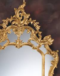 baroque style carved gold leaf mirror
