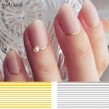 Shop Gold Nail Stickers On Wanelo