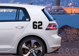 Amazon Com Custom Numbers 0 99 Decals Choose Your Numbers Racing Numbers Car Numbers Vinyl Sticker Bike Numbers Decals Boats Numbers B G Handmade