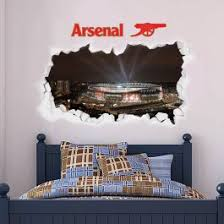 Official Licensed Football Entertainment Wall Stickers Arsenal Football Club Smashed Emirates Stadium Outside Lights Wall Sticker The Beautiful Game