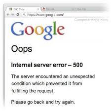 getting 500 internal server error