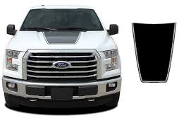 Product 2015 2017 Ford F 150 Force Hood Solid Color Decals Stripes Vinyl Graphics