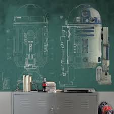 Star Wars R2 D2 Mural Wall Decal 5 Piece Set By Roommates