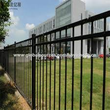 Chinazinc Steel Guardrail Fence Black Zinc Coated Steel Fence Post And Wrought Iron Fence Design On Global Sources