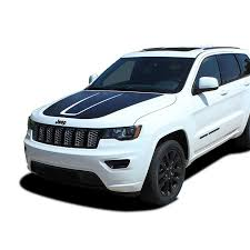 Large Black Front Engine Hood Decal Sticker Vinyl Graphic Accessories For Jeep Grand Cherokee 2014 2017 2018 2019 Car Stickers Aliexpress