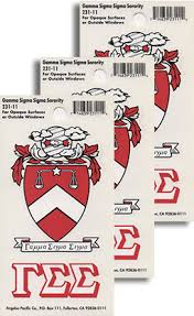 Gamma Sigma Sigma Decals Sorority Crest