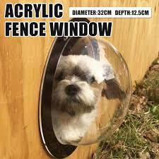 Pet Peek Fence Window Dome Insert Clear Outside Landscape Viewer For Dogs Cats Prathipaksham In