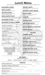 Bourbon Street Seafood Kitchen menu in ...