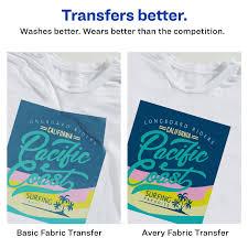 Avery Printable T Shirt Transfers 6 Paper Transfers 3271 Walmart Com Walmart Com