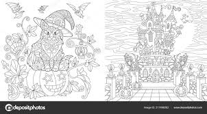 Halloween Coloring Pages Coloring Book Adults Colouring Pictures