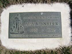 Ada Vixen King Snyder (1885-1962) - Find A Grave Memorial
