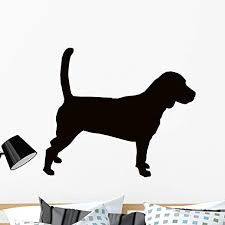Amazon Com Wallmonkeys Beagle Hound Dog Silhouette Wall Decal Peel And Stick Animal Graphics 36 In W X 31 In H Wm5589 Home Kitchen