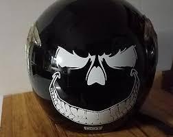 Evil Smile Helmet Decal Motorcycle Helmet Tank Decal Sticker Harley Honda 4 00 Picclick