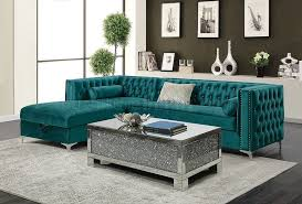 bellaire sectional sofa 508380 in teal