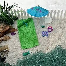 orange beach fairy garden kit large
