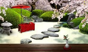 zen garden spring live wallpaper