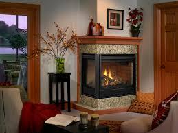 contemporary corner gas fireplaces