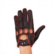 driving gloves black orange