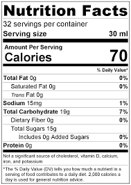 king orchards nutritional facts