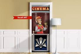 Cinema Ticket Booth Mural For Door Wall Fridge Sticker Etsy