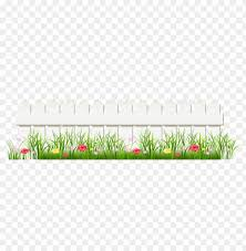 Download Transparent White Fence With Grass Clipart Png Photo Toppng
