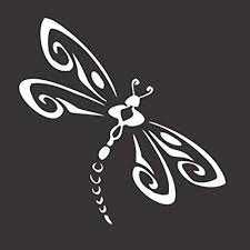Amazon Com Barking Sand Designs Dragonfly Original Die Cut Vinyl Window Decal Sticker Car Truck 5 X5 Automotive