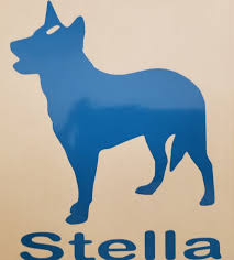 Aussie Heeler Window Decal With Your Dogs Name Queensland Etsy