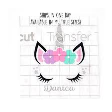 Unicorn Decal With Name Tumbler Decal Personalized Vinyl Etsy