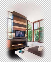 electric fireplace living room interior