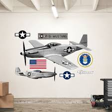 Fathead United States Air Force P 51 Mustang Peel And Stick Wall Decal Wayfair