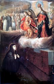 Aparición de la Virgen a Santa Brígida de Suecia Santos