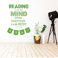 Reading Is Exercise To The Mind Quote Vinyl Wall Art For Home School