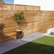 Cequence Slatted Cedar Fence Panel Bevel Edged