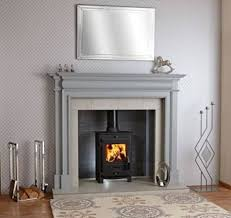 painted wooden fireplace google