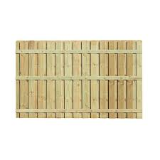 Unbranded 6 Ft H X 8 Ft W Pressure Treated Pine Board On Board Fence Panel 105819 The Home Depot