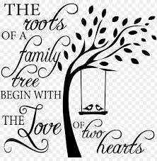 Family Roots Sweetumswalldecals Tree With Birds On Swing Wall Decal Png Image With Transparent Background Toppng
