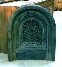wrought iron fireplace doors