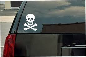 Amazon Com Skull And Bones Pirate Logo Vinyl Decal White Window Sticker Automotive