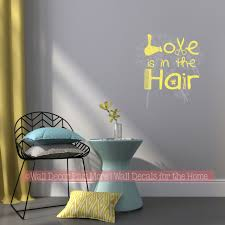 Love In The Hair Wall Quotes For Salon Hairdresser Vinyl Decal Stickers