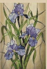 flowers counted cross stitch