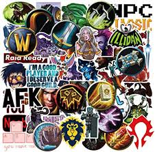 Amazon Com World Of Warcraft Game Stickers Decals For Laptop Water Bottles Bomb Cool Computer Skateboard Luggage Motorcycle Car 50pcs Arts Crafts Sewing